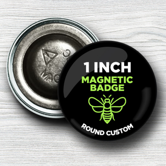 Custom 1 Inch Round Magnet-back Badges