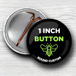 Custom 1 Inch Round Pinback Buttons