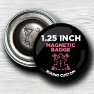 Custom 1.25 Inch Round Magnet-back badges