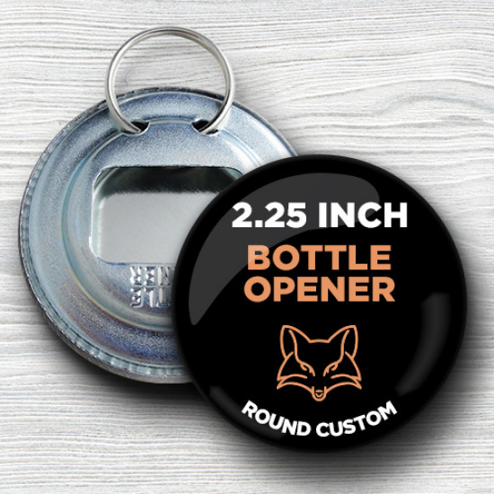 Custom 2.25 Inch Bottle Opener Keychains