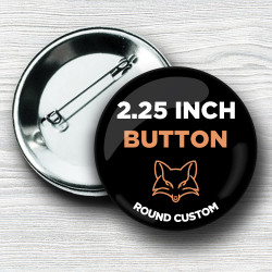 Custom 2.25 Inch Round Pinback Buttons