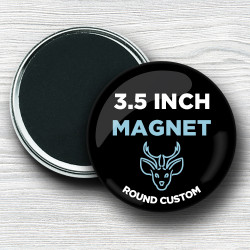 Custom 3.5 Inch Round Magnets