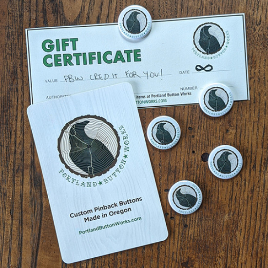 Portland Button Works Gift Certificate