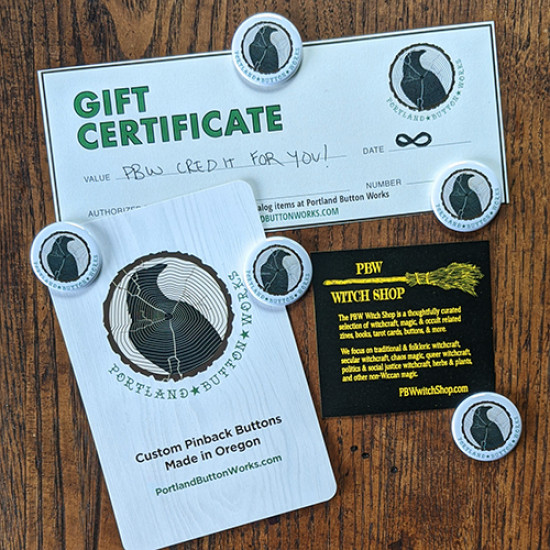 A PBW Witch Shop Gift Certificate