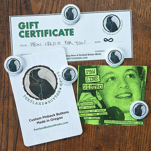 A PBW Zine Distro Gift Certificate