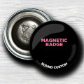 Custom round magnet-back Badges