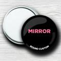 Custom Round Hand Mirrors