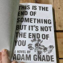 This is the End of Something But It's Not The End of You by Adam Gnade