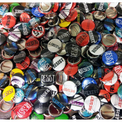 """Resistance Grab Bag 1"""" Buttons in quantities of 50 or 100"""
