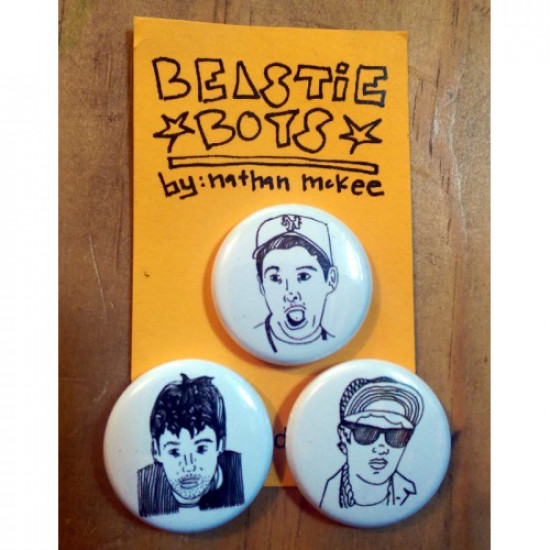 Beastie Boys Button or Magnet set of 3