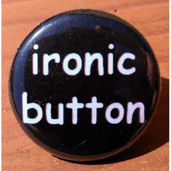 Ironic Button QU-15