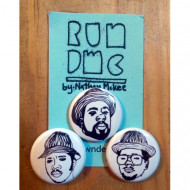RUN DMC Button or Magnet Set of 3