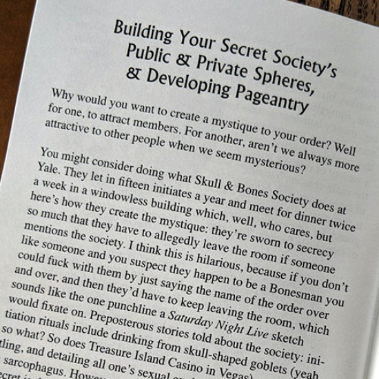 Caboose Zine #9 Masons on Masons: How to Start a Secret Society