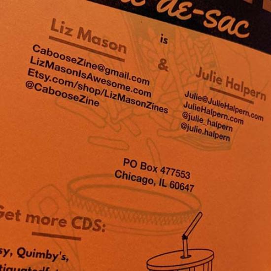 Cul-de-sac #9 The Food Issue zine