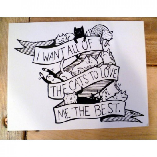 ALL THE CATS Sticker