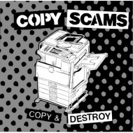 "Copy Scams - Copy & Destroy 10"" vinyl record, zine, and download code"